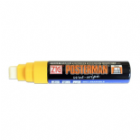 Yellow Zig Posterman Wet Wipe Liquid Chalk Marker Broad 15mm Nib